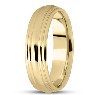 YELLOW GOLD LAYERED HIGH POLISHED BAND