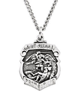 St. Michael Medal Necklace or Pendant