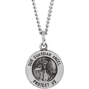 Guardian Angel Medal Necklace or Pendant